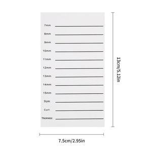 Image 5 - Nouveau support de plaque de main dextension de cils individuels Palette de bandes de plateau de cils 14mm 15mm outil de maquillage de beauté de cils acrylique