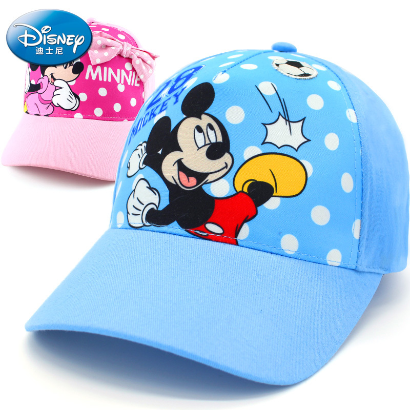 Disney Children Hat Mickey Mouse Cap Fashion Cartoon Kids Hat Outdoor Wear Cotton Adjustable Breathable Visor Shade Baseball Cap