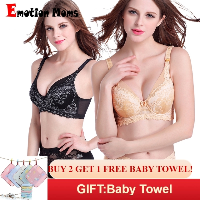 74e28417d4bb9 Emotion Moms Lace Maternity Clothes full cup Cotton Plus size Maternity Bra  Nursing Bra For Pregnant Women Breastfeeding Bra