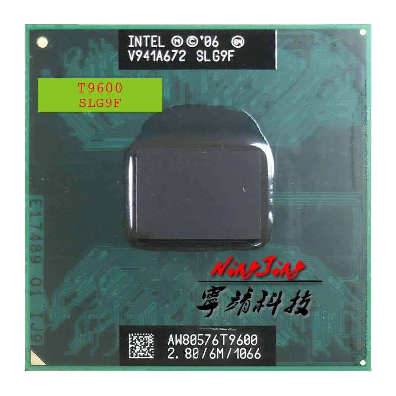 Процессор Intel Core 2 Duo T9600 SLG9F SLB47, 2,8 ГГц, двухъядерный процессор с двумя потоками, 6M, 35W Socket P