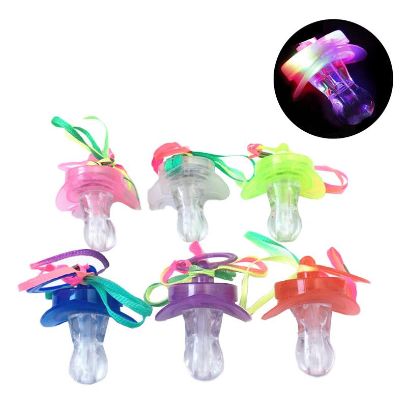 Responsible Led Flashing Baby Pacifier Toddler Whistle Flash Glow Sticks Party Supplies Toy Pacifier Fun Props Nipple & Accessories