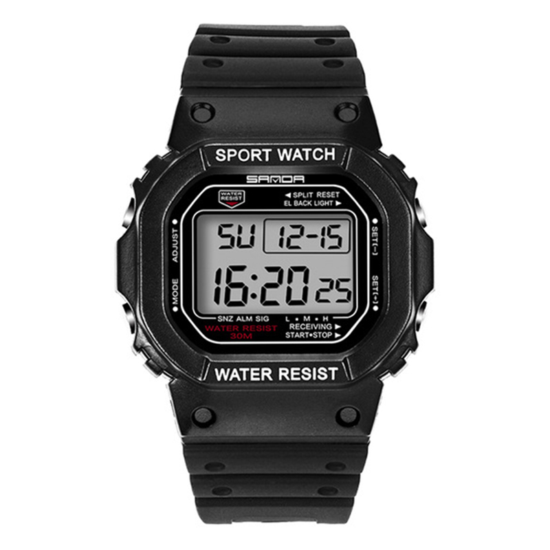 Sanda Watch Men'S Style Waterproof Sports Watch Digital Watch