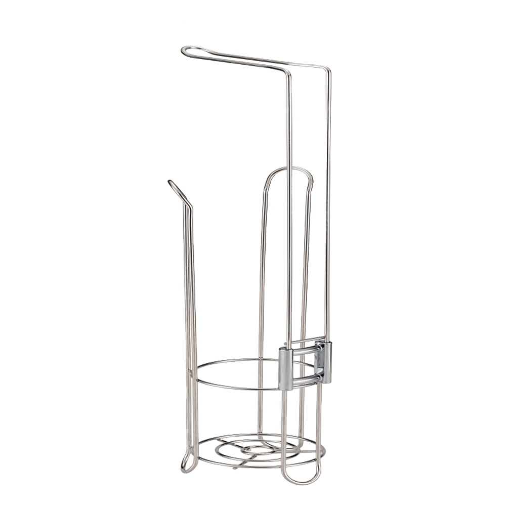 1pc Paper Roll Holder Stainless Steel Practical Standing Tissue Paper Stand Paper Roll Stand Paper Roll Storage Stand for Toilet1pc Paper Roll Holder Stainless Steel Practical Standing Tissue Paper Stand Paper Roll Stand Paper Roll Storage Stand for Toilet