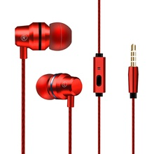 SOONHUA 3.5mm In Ear HIFI Stereo Earphone Wired Super Bass Earbuds With HD Micro