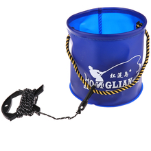 Collapsible Fishing Bucket Breathable Live Fish Baits Worm L