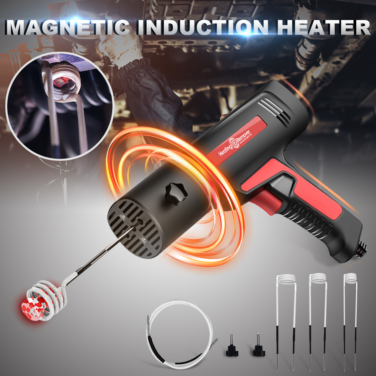 Magnetic Induction Heater Kit For Automotive Flameless Heat 12V 110 220V Repair Car Heating Bolt Remover