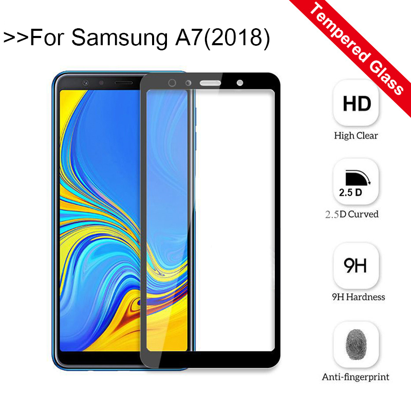 A7 2018 Protective Glass For Samsung Galaxy A7 2018 A750 Screen Protector For Samsung A7 2018 SM-A750 Tempered Glass Film cover