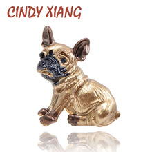 CINDY XIANG Cute Small Dog Brooches for Women and Kids Enamel Animal Brooch Pin Coat Dress Accessories Bijouterie Broches Gift