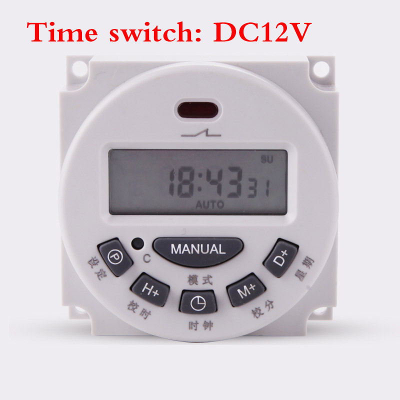 Hand & Power Tool Accessories Time Switch Lcd Digital Dc12v 7 Days Weekly Programmable Timer /hour/minute Count For Home Built-in Rechargeable Battery