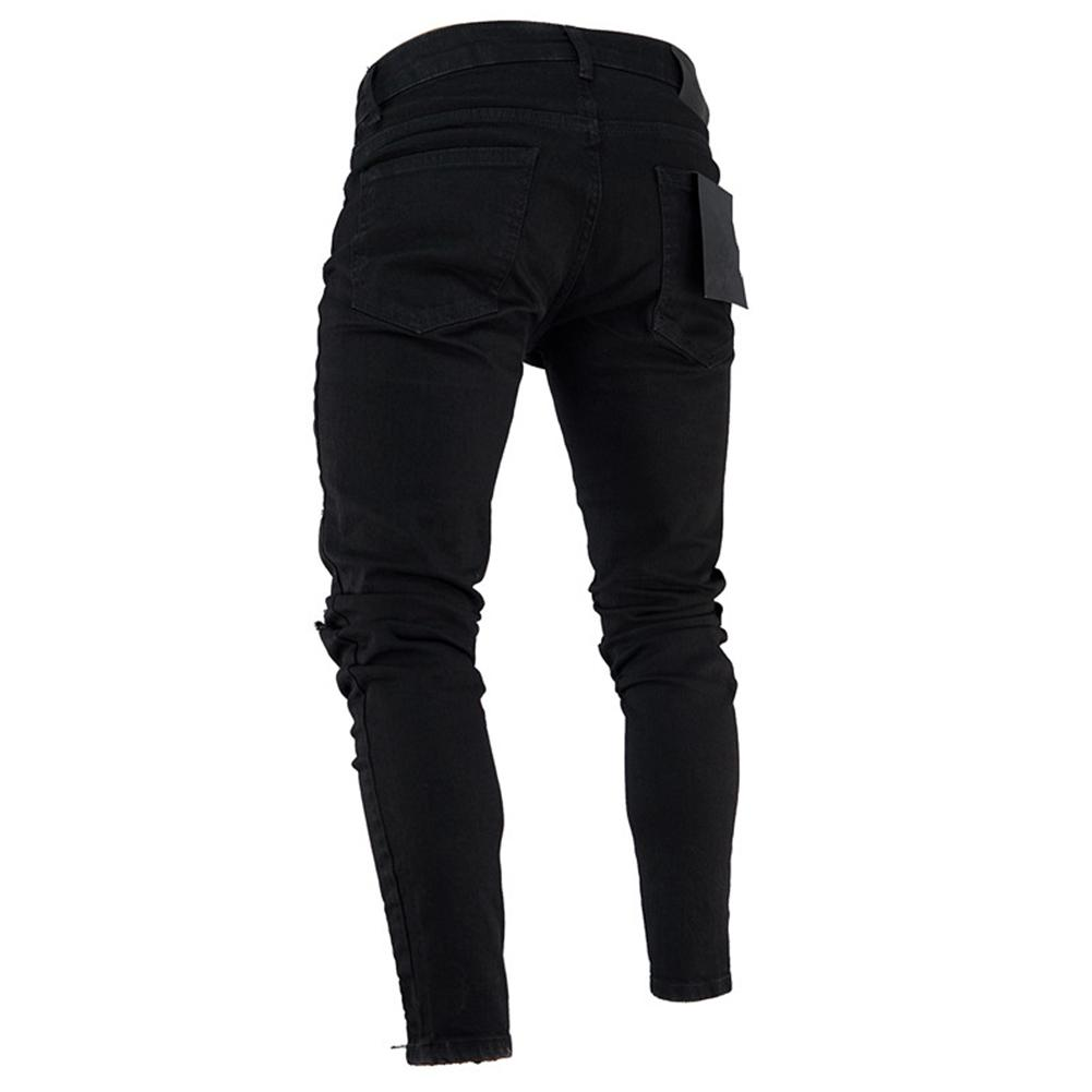 Fashion Men Ripped Skinny Jeans Stretch  1