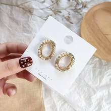 2019 Korea Earrings Pearl Retro Crystal Exaggerated Big Round Trend For Women Baroque Summer Beach Jewelery