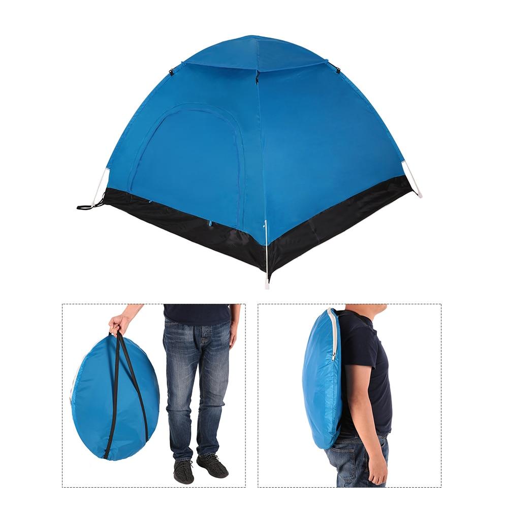 TOMSHOO tente de Camping en plein air Portable automatique Pop Up tente tente de plage randonnée sac à dos tente abri solaire pour 2-3 personnes