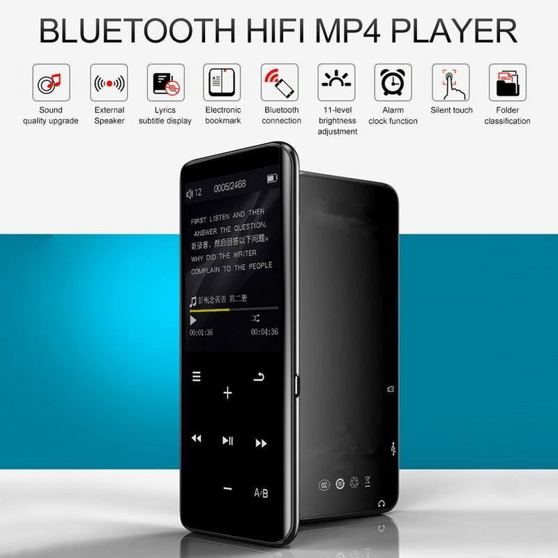 2019 Fashion Portable Bluetooth MP4 Player Touch Screen FM Radio Video TF Card Recorder Pen Movie Mp3 Mp4 Player 16GB 8GB
