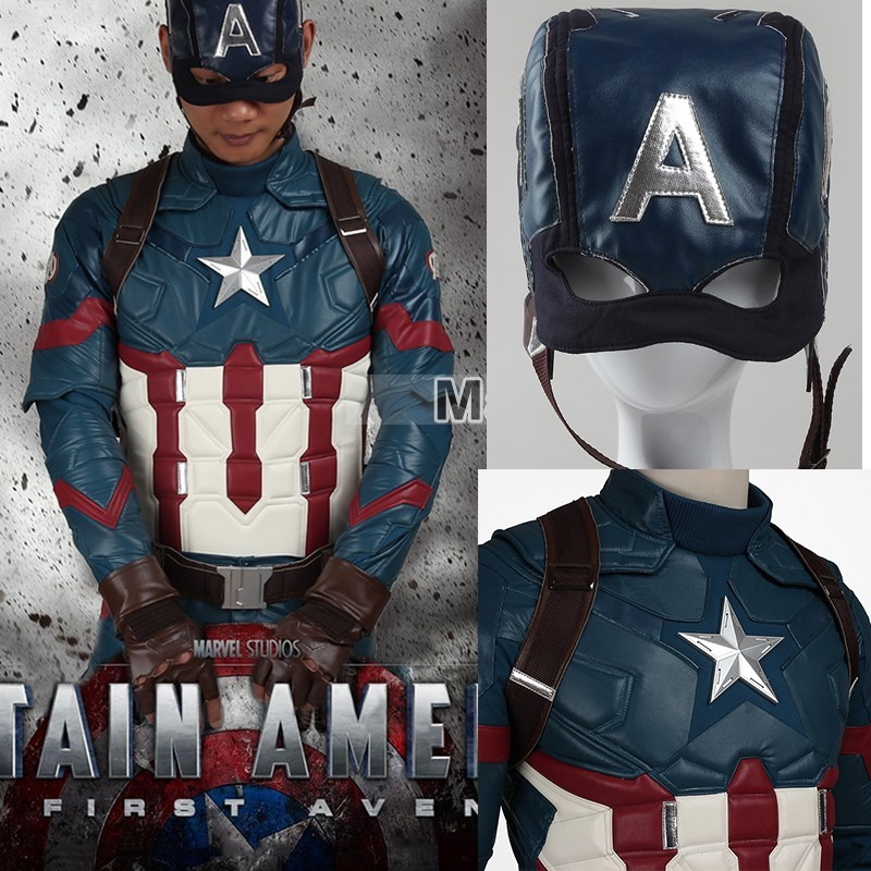 Captain America 3 Civil War Costume Steve Rogers Cosplay Superhero Halloween Adult Men Leather Accessories Belt Gloves Helmet