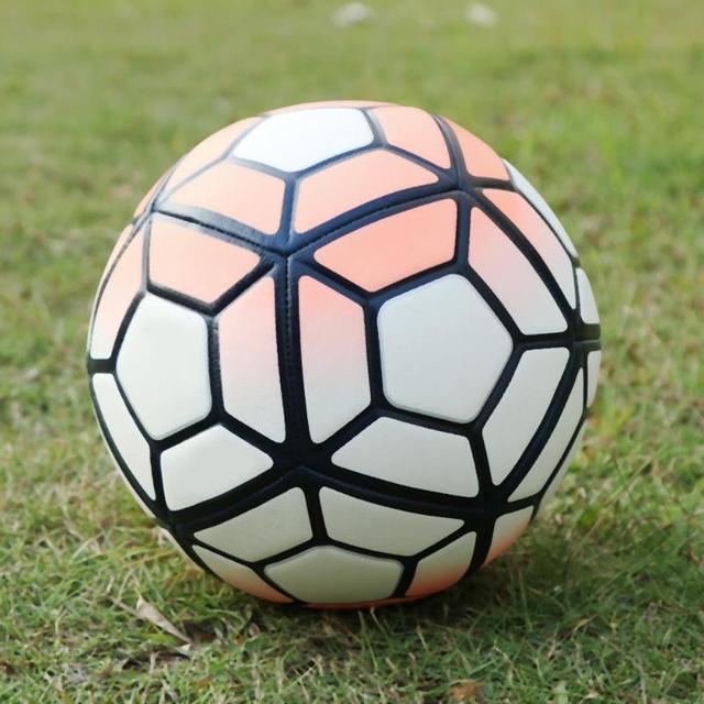 2019 Soft PU Leather Soccer Ball No. 5 Machine Stitched Soccer Orange + White Soft PU Antiskid Training Soccer Birthday Gifts