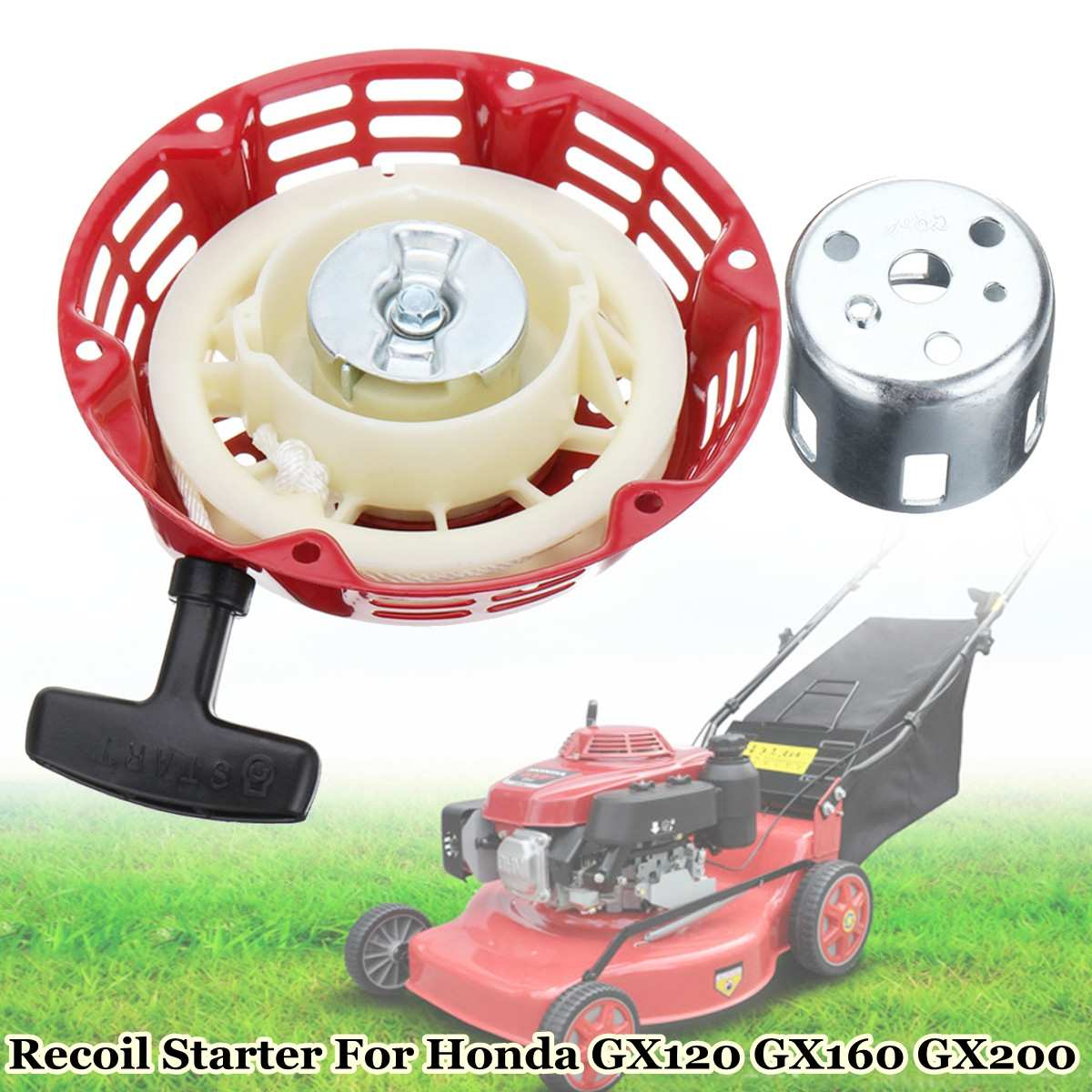 Pull Starter Recoil Start Flange Cup Set For Honda GX120/160/200 4HP 5.5 & 6.5 for HP Engines 28400-