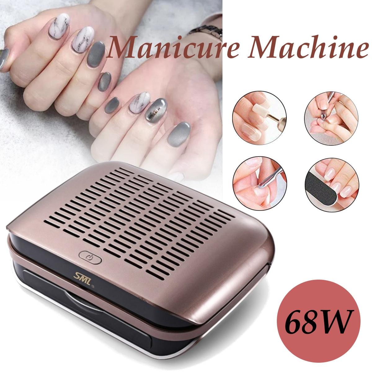 Nouveauté 68 W forte puissance ongles aspiration collecteur de poussière ongles collecteur de poussière aspirateur ongles ventilateur Art Salon manucure machine