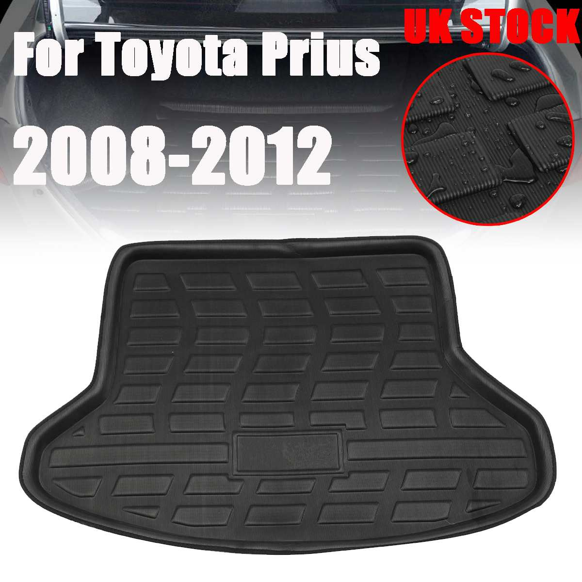 Car Trunk Tailgate Cargo Liner Carpet Waterproof Cushion Mat Rear Trunk Liner For Toyota Prius 2008-2012 Floor Protective Mats