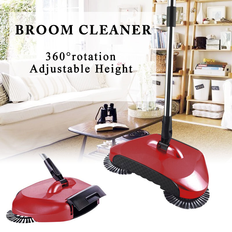 Automatic Hand Push Sweeping Machine Household Lazy Sweeper Broom 360 Degree Rotating Cleaning Sweeping Tool Without Electricity|Brooms & Dustpans| |  - title=
