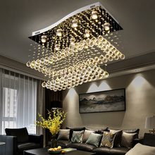 цены 2019 new Modern  Crystal ceiling lamp  For Living Room  bedroom surface mounted ceiling light LED Lustres De Cristal  110-220V