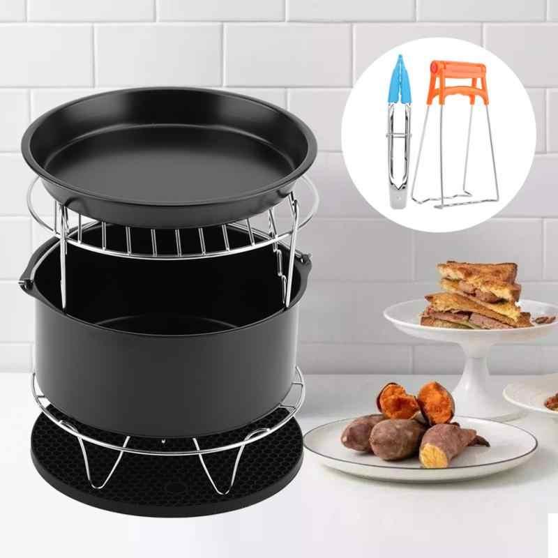 Hogar aire accesorios para freidora 7 piezas cesta para hornear Pizza placa parrilla estante para olla estera para 4QT-5.6QT