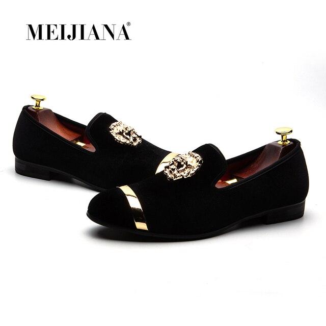 MEIJIANA 2018 חדש גברים עור נעלי יוקרה מזדמן אופנה מגמת מותג גברים של נעלי גודל גדול להחליק על גברים של נעלי חתונה נעליים