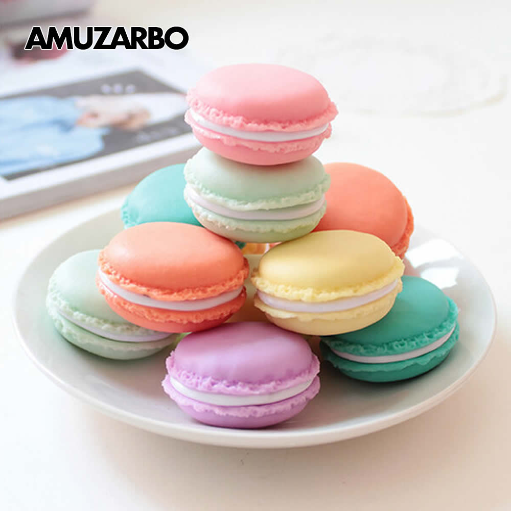 Macaron Mini Eraser Case Storage Box Carrying Pouch Portable Sundries Storage Jewelry