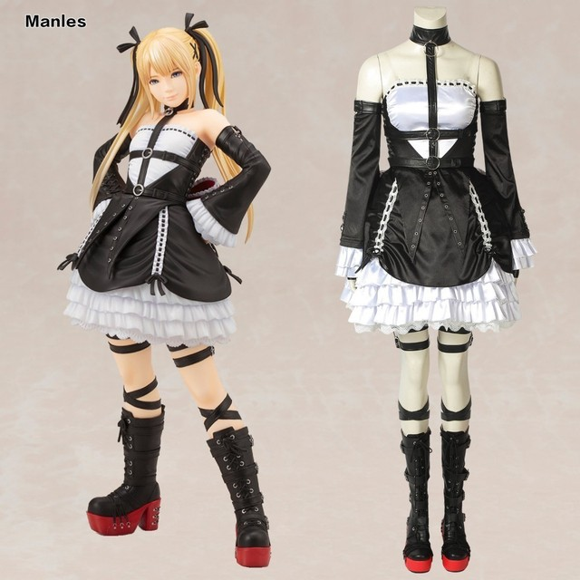 DEAD OR ALIVE6 Cosplay Marie Rose Costume Anime Game Halloween Christmas Adult Women Custom Made Gloves Prop Uniform Dress Strap