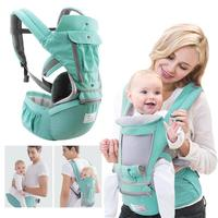 Breathable Ergonomic Baby Carrier Backpack Portable Infant Baby Carrier Kangaroo Hipseat Heaps Baby Sling Carrier Wrap Manduca