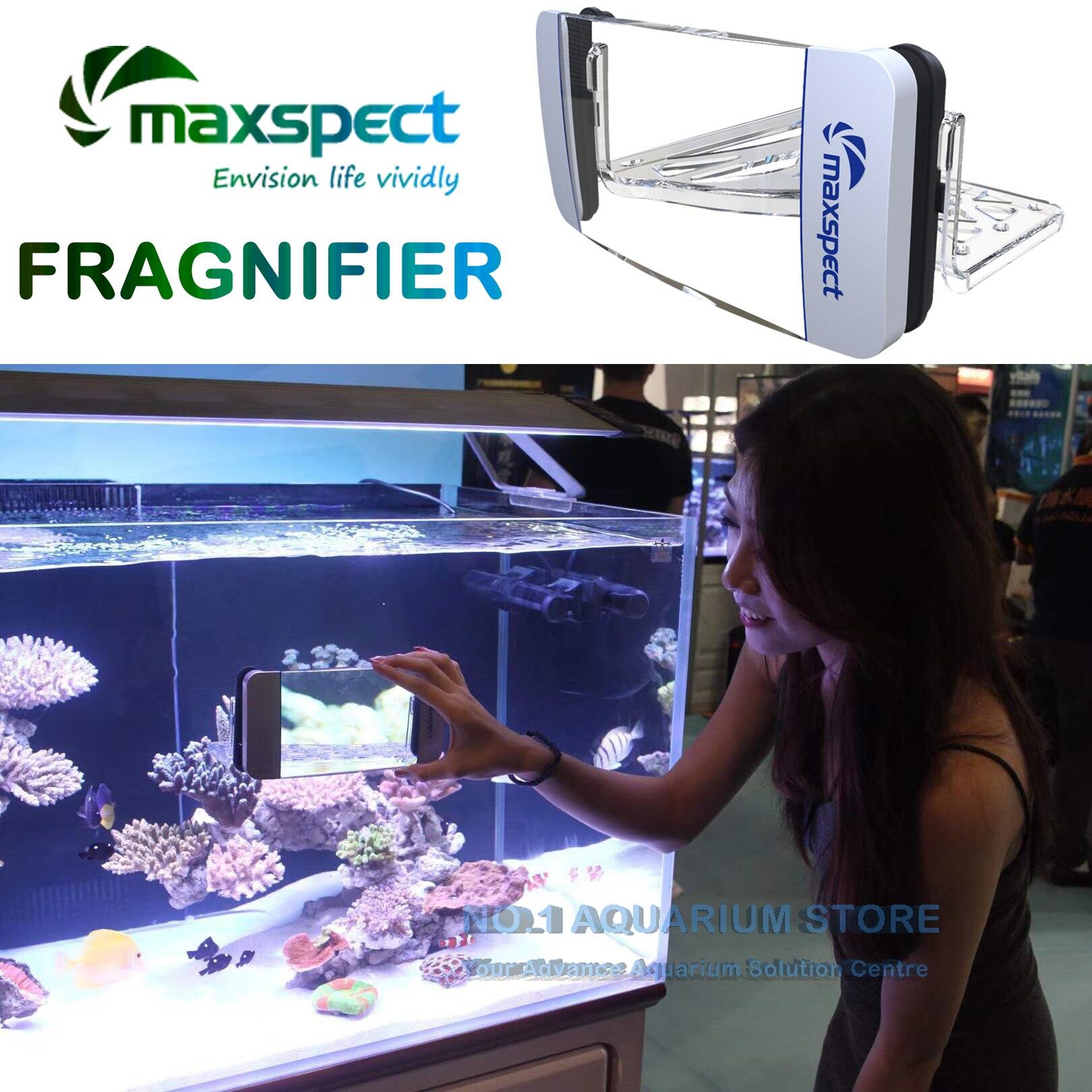 Maxspect Fragnifier akwarium powiększać widza glonów Megnetic Cleaner Frag stojak z mocowanie magnetyczne dla Marine/zbiornika rafa w Części i zaopatrzenie do hodowli ryb od Dom i ogród na  Grupa 2
