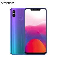 XGODY S9 смартфон 4G 6,18 дюймов Notch Экран мобильного телефона Android 8,1 Octa Core 4G + 32 ГБ Face ID отпечатков пальцев 5000 мАч сотовые телефоны