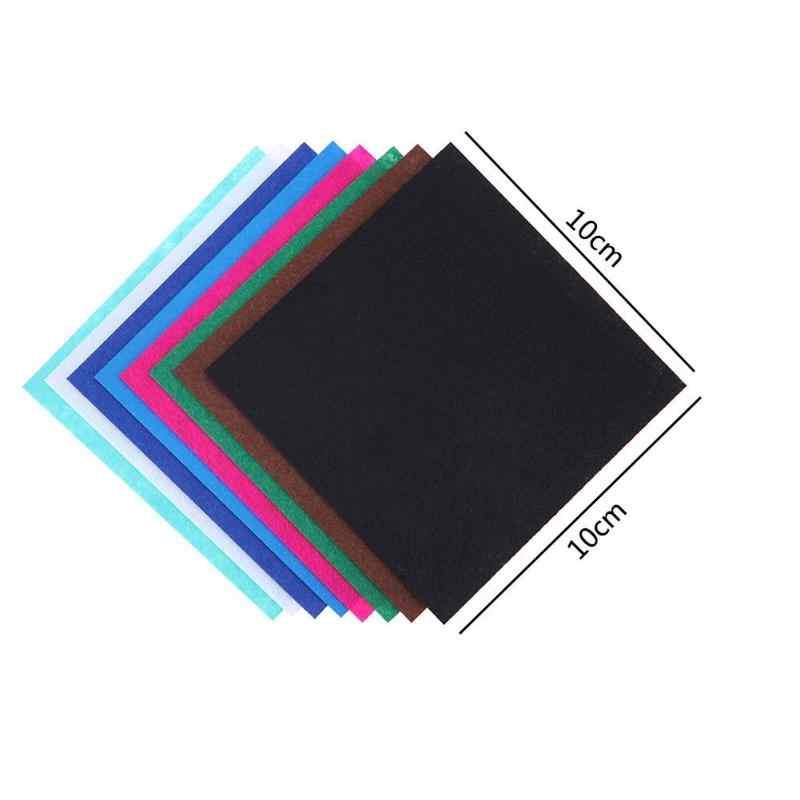 40 sztuk/zestaw nie tkany filc tkanina tkanina poliestrowa czuł tkaniny DIY pakiet do szycia lalki Handmade Craft gruby Home Decor kolorowe