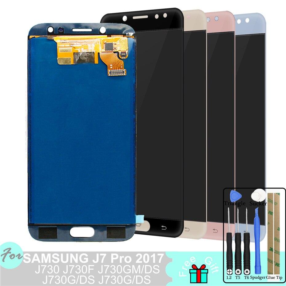 SM-J730F/G/GM/FN/DS For Samsung Galaxy J7 Pro 2017 J730 LCD Display + Touch Screen Screen J730F Adjust Brightness PancelSM-J730F/G/GM/FN/DS For Samsung Galaxy J7 Pro 2017 J730 LCD Display + Touch Screen Screen J730F Adjust Brightness Pancel
