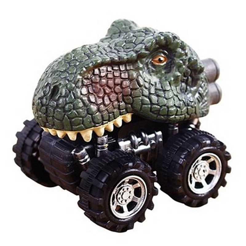 Regalo di Giorno dei bambini Giocattolo Modello di Dinosauro Mini Giocattolo Auto Posteriore Della Vettura Regalo Tyrannosaurus Rex
