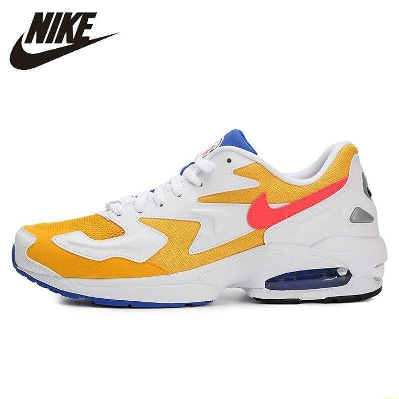 Nike Air Max2 nouveauté hommes chaussures de course confortable coussin d'air lumière chaussures gravées Sports de plein Air baskets # AO1741-700
