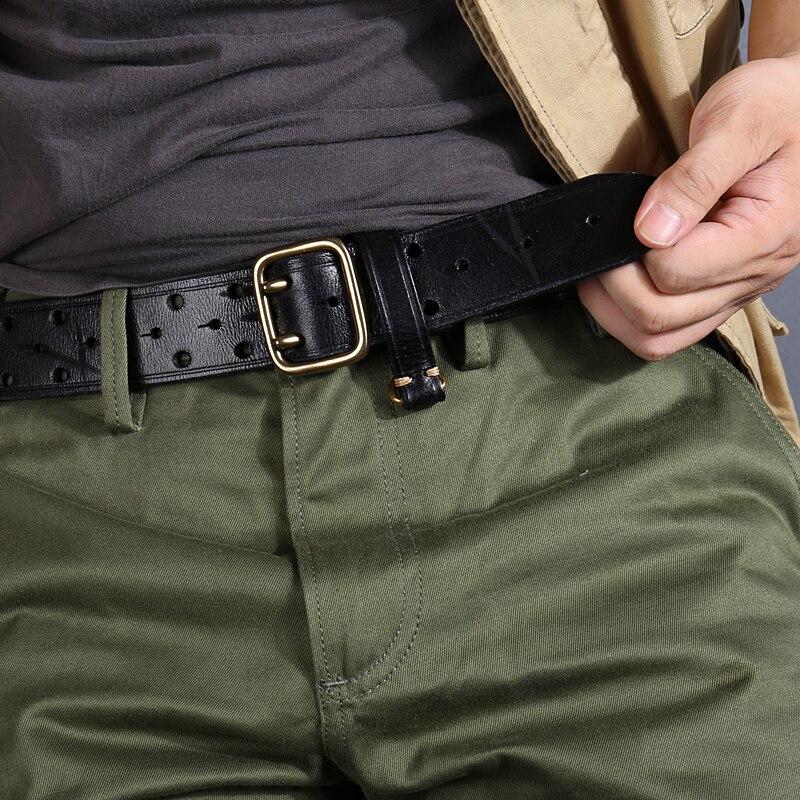 New Belt Men's Fashion Men's Belt Luxury Cowhide Handmade Genuine Leather Strap Men's Jeans Wide Gifts Harajuku Military 3.8cm
