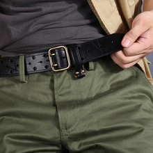 New Belt Men's Fashion Men's Belt Luxury Cowhide Handmade Ge