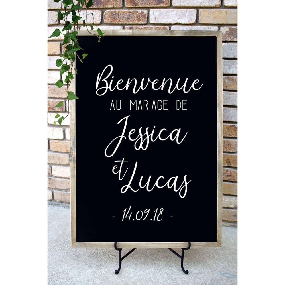 Bienvenue Au Mariage De Decal Wedding Decor Personalized Name Date Stickers French Wedding Welcome Sign Decals For Board