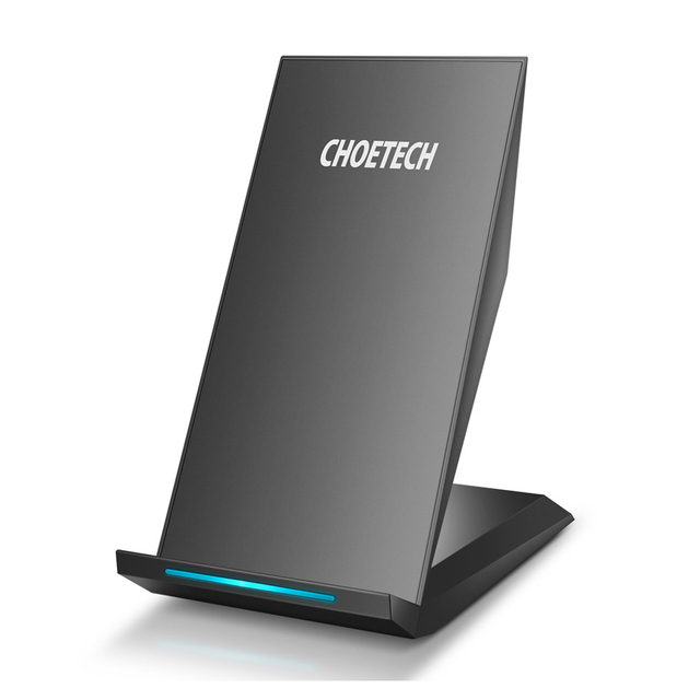 CHOETECH Qi Fast Charge Wireless Stand Compatible with Samsung Galaxy S9 Note