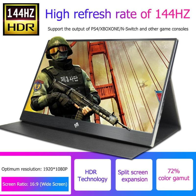 15 6 inch 144Hz 1080P HDR Monitor Portable Game Screen Display for PS4 Pro XboxONE NS