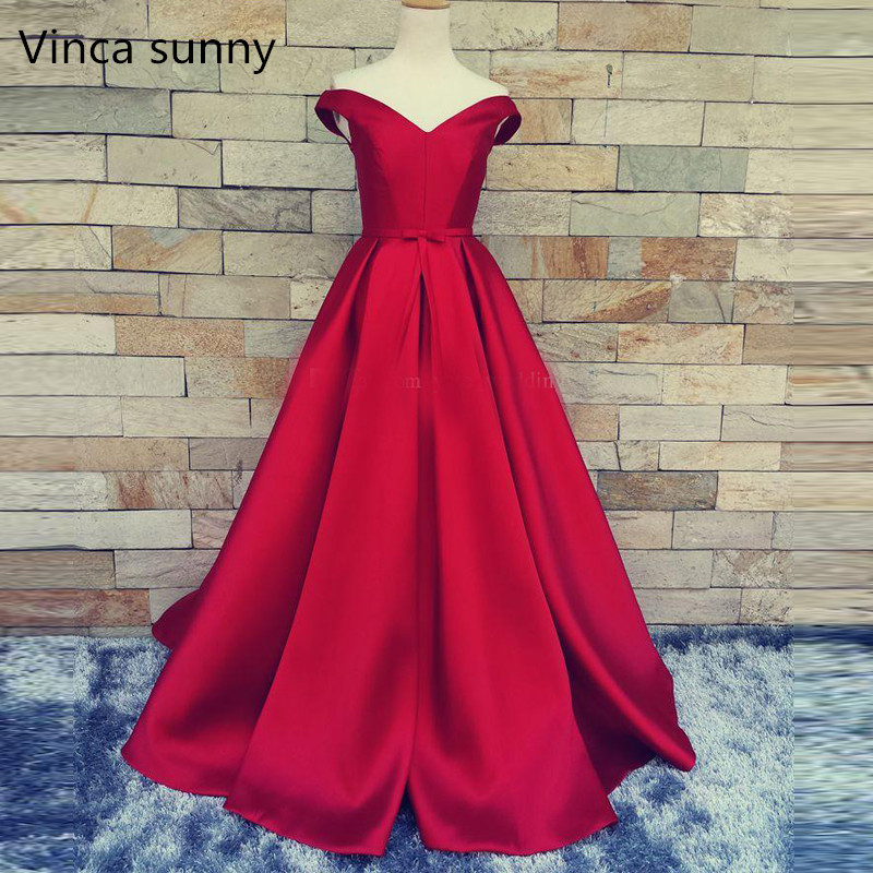 Red Carpet Long Prom Gowns With Belt Sexy V Neck Ball Gowns Open Back Vintage Wedding