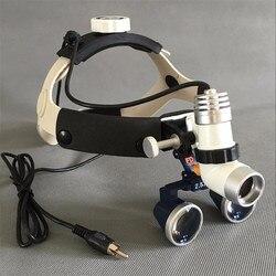Medyczne lup 2.5/3.5X lupa okularowa medyczne chirurgiczne lupy stomatologiczne + 3W LED medycznych reflektorów