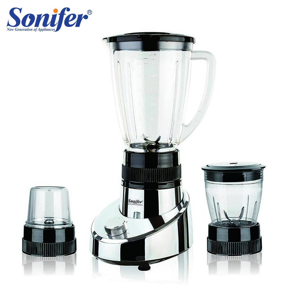 400W Electric Food Standing Blender Mixer Kitchen Stainless Steel Vegetable Meat Grinder Ice Cocktail Bar Fruit Blender Sonifer