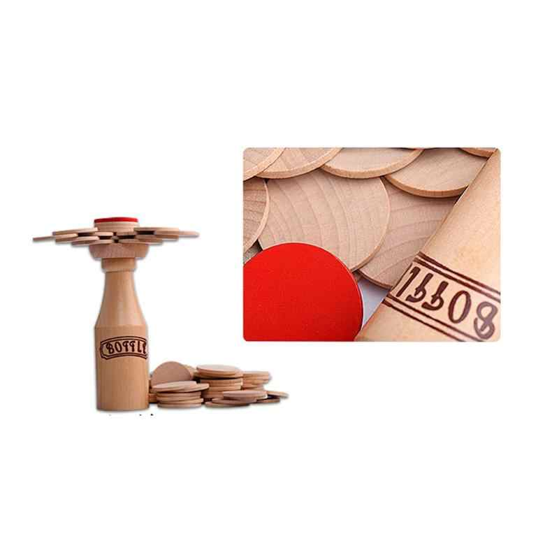 Wooden Bottle Stacking Balance Training Adult Children/'S Educational Toys