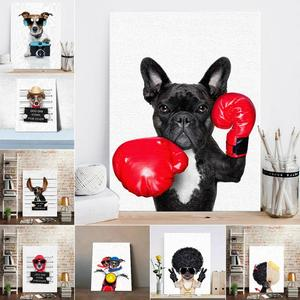 Nordic Style Boxing Dog Canvas