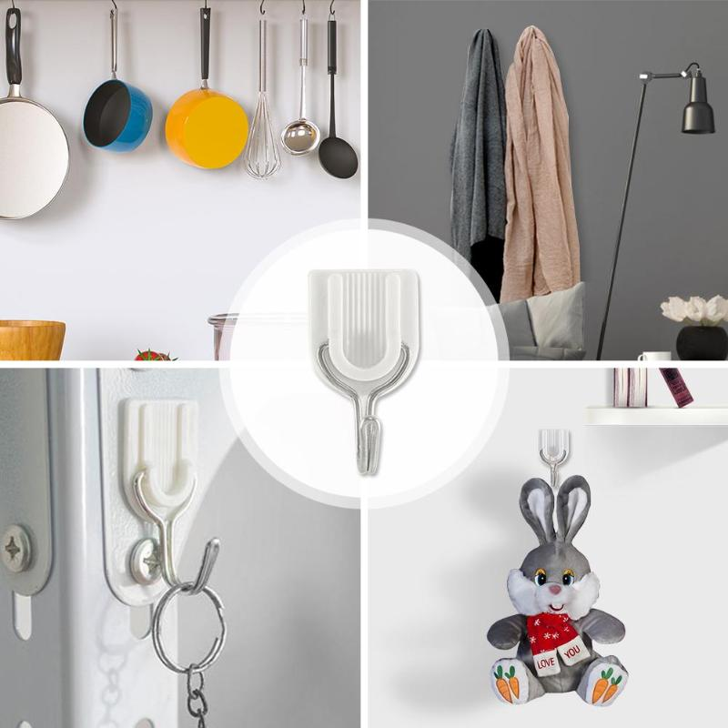 6pcs U-shaped Hotselling Strong Transparent Suction Cup Sucker Wall Hooks Hanger For Kitchen Bathroom KitchenDining & Bar Tool