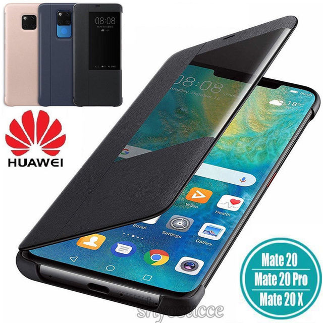 Case For Huawei Mate 20 Mate 20x Mate 20 Pro View Smart Case PU Leather flip Cover for Huawei Mate 20 Retail Box
