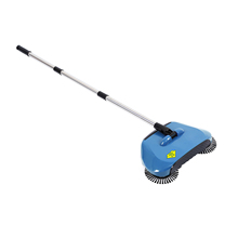 1pc Stainless Steel Hand Push Sweeper Sweeping Machine Push Type Hand Push Broom Dustpan Handle Household Cleaning Package Mop