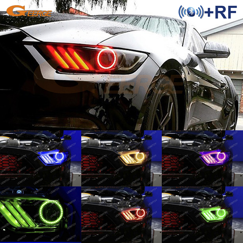 For Ford Mustang 2015 2016 Headlight Excellent Rf Bluetooth
