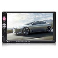 7 Portable Double 2 Car Stereo Audio Bluetooth Touch MP5 Player USB FM Radio Receiver Rear View Camera Remote